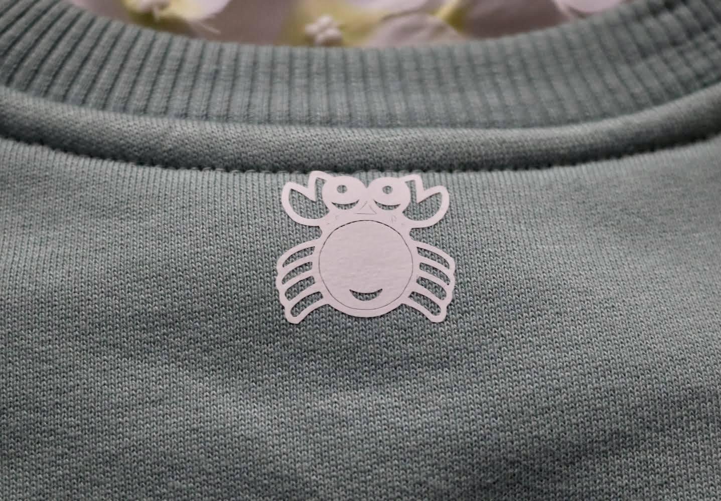 Organic Cotton Slate Green Eco Warrior Sweatshirt Top Kind Shop 2