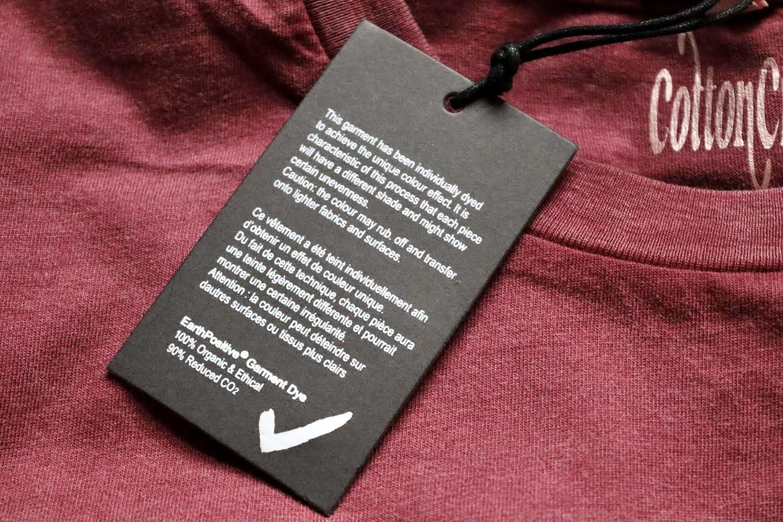 Organic Cotton Cropped Stonewash Burgundy T-Shirt with CottonCrab Rainbow Logo Kind Shop 7