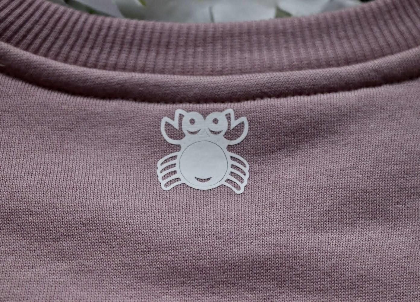 Organic Cotton Purple Rose Slow Fashion Vibin' Sweatshirt Kind Shop 2