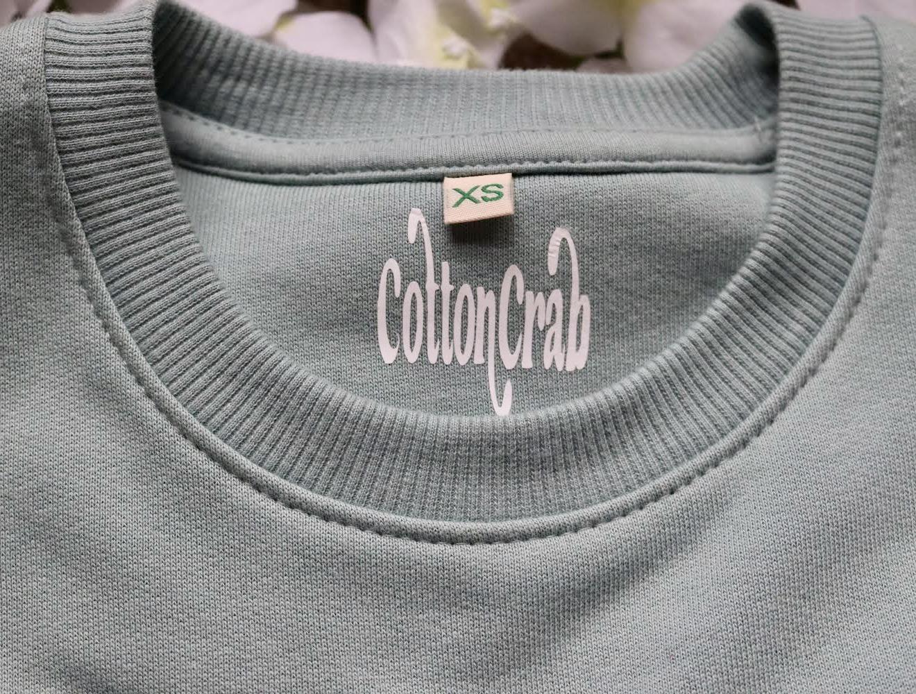 Organic Cotton Slate Green Eco Warrior Sweatshirt Top Kind Shop 3