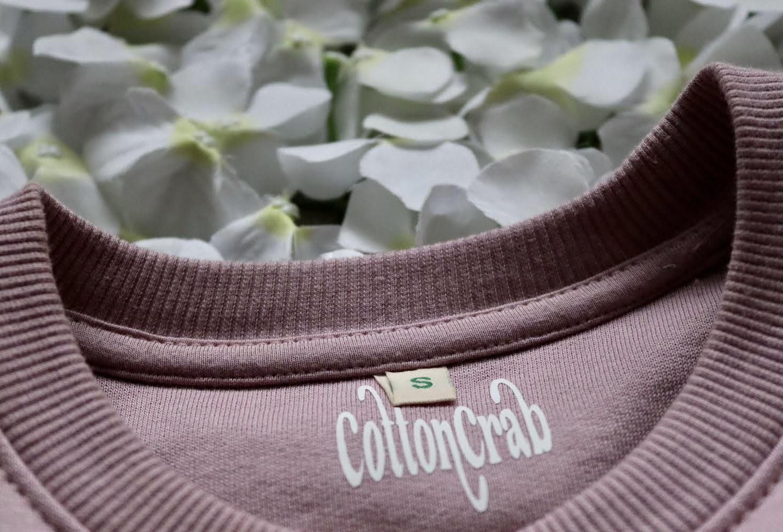 Organic Cotton Purple Rose Slow Fashion Vibin' Sweatshirt Kind Shop 3