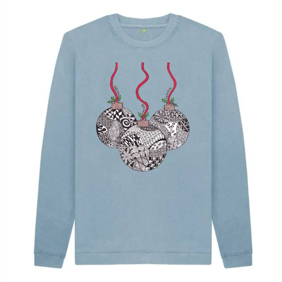 Christmas Baubles Children's Sustainable Christmas Jumper – Organic Cotton Kind Shop 4