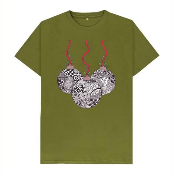 Christmas Baubles Children's Sustainable Christmas T Shirt – Organic Cotton Kind Shop 4