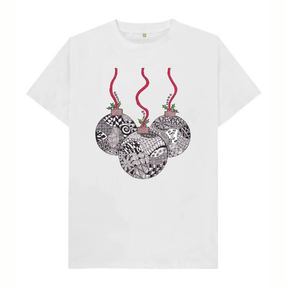 Christmas Baubles Children's Sustainable Christmas T Shirt – Organic Cotton Kind Shop 6