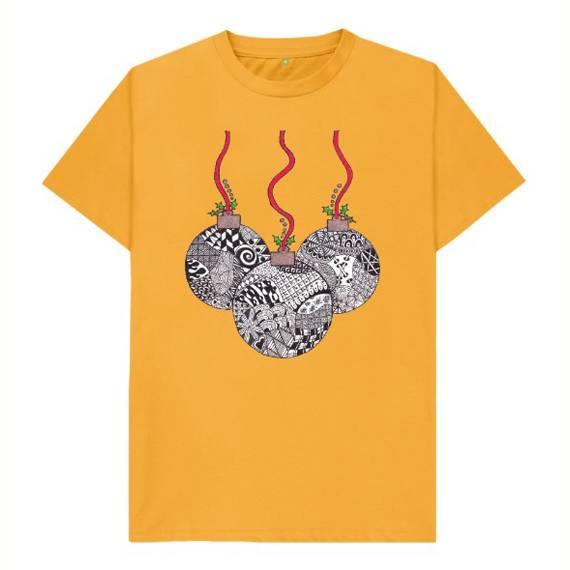 Christmas Baubles Children's Sustainable Christmas T Shirt – Organic Cotton Kind Shop 7