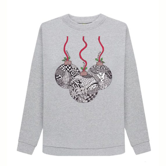 Christmas Baubles Women's Sustainable Christmas Jumper – Organic Cotton Kind Shop 4