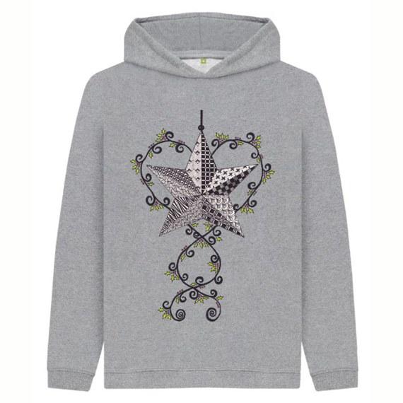 Christmas Star Children's Sustainable Christmas Hoodie – Organic Cotton Kind Shop 5
