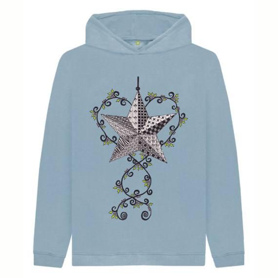 Christmas Star Children's Sustainable Christmas Hoodie – Organic Cotton Kind Shop 3