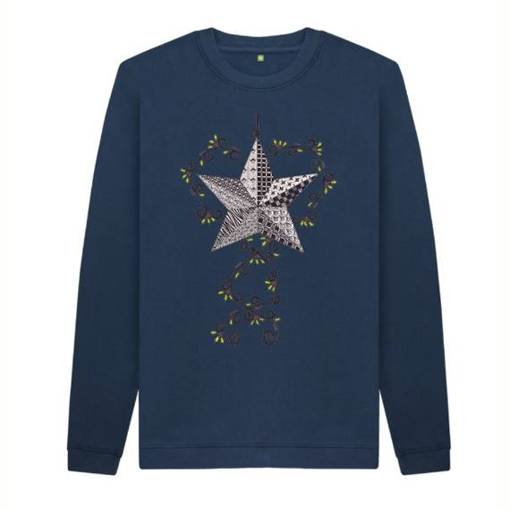 Christmas Star Children's Sustainable Christmas Jumper – Organic Cotton Kind Shop 2