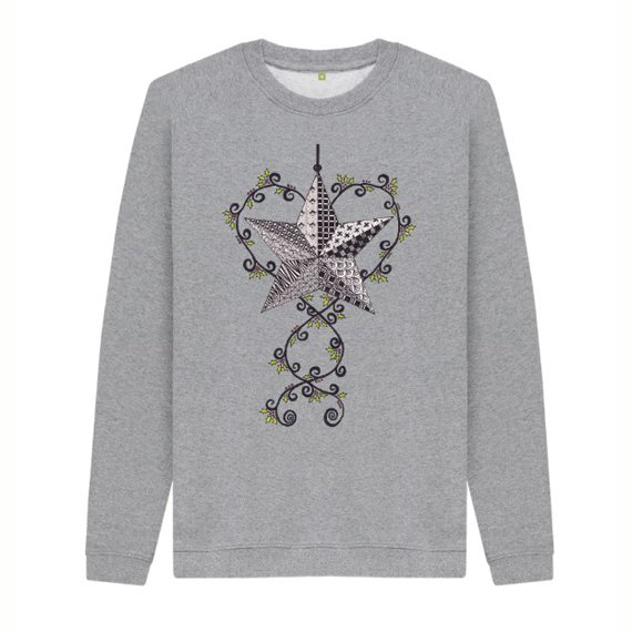 Christmas Star Children's Sustainable Christmas Jumper – Organic Cotton Kind Shop 3