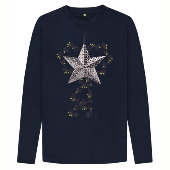 Christmas Star Children's Sustainable Christmas Long Sleeve T Shirt – Organic Cotton Kind Shop 2