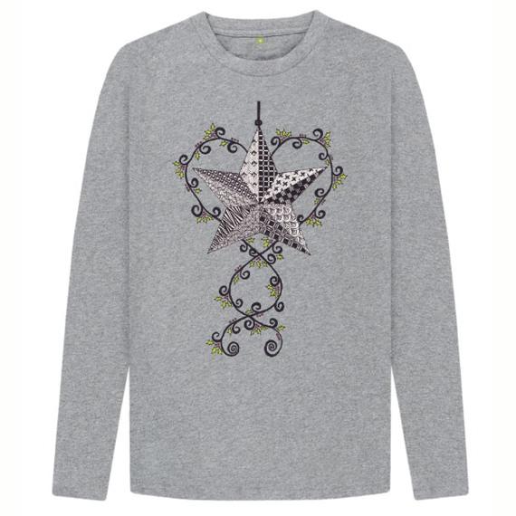 Christmas Star Children's Sustainable Christmas Long Sleeve T Shirt – Organic Cotton Kind Shop 3