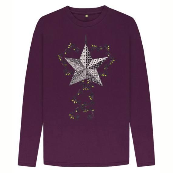 Christmas Star Children's Sustainable Christmas Long Sleeve T Shirt – Organic Cotton Kind Shop