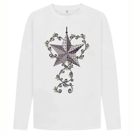 Christmas Star Children's Sustainable Christmas Long Sleeve T Shirt – Organic Cotton Kind Shop 4