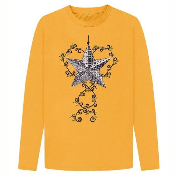 Christmas Star Children's Sustainable Christmas Long Sleeve T Shirt – Organic Cotton Kind Shop 5