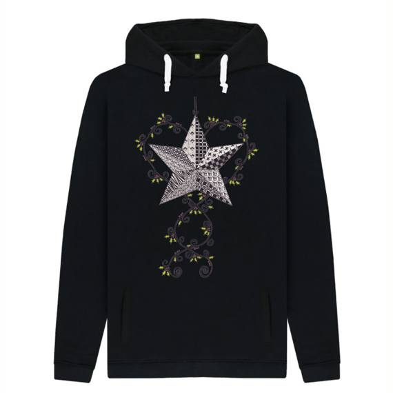 Christmas Star Men's Sustainable Christmas Jumper Hoodie – Organic Cotton Kind Shop 2