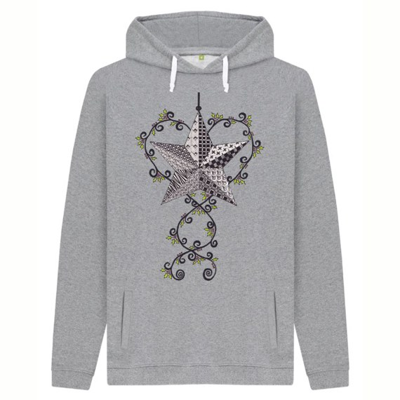 Christmas Star Men's Sustainable Christmas Jumper Hoodie – Organic Cotton Kind Shop 4