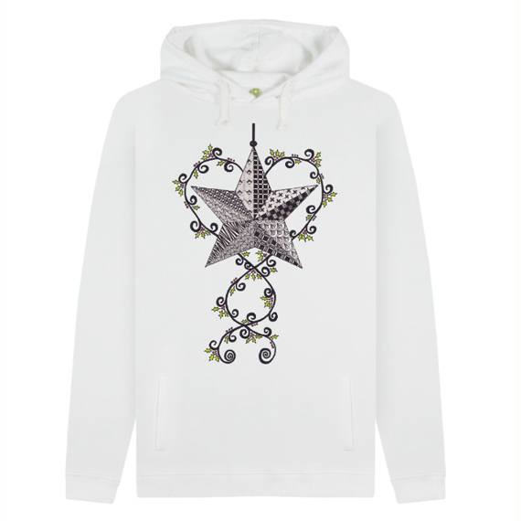 Christmas Star Men's Sustainable Christmas Jumper Hoodie – Organic Cotton Kind Shop 5