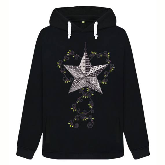 Christmas Star Sustainable Women's Christmas Jumper Hoodie – Organic Cotton Kind Shop 2