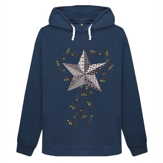 Christmas Star Sustainable Women's Christmas Jumper Hoodie – Organic Cotton Kind Shop 3