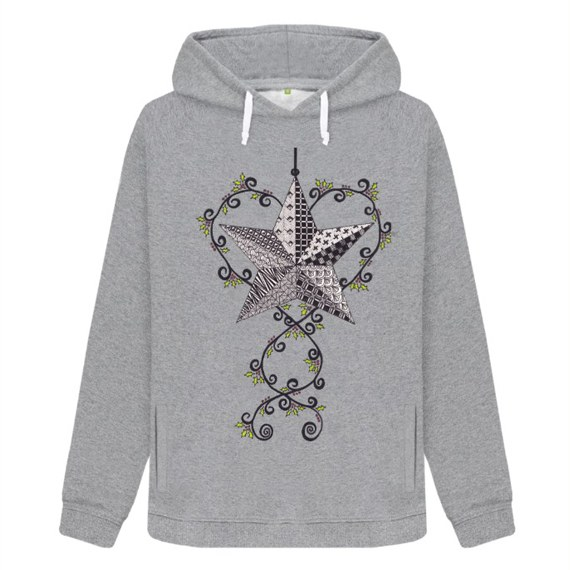 Christmas Star Sustainable Women's Christmas Jumper Hoodie – Organic Cotton Kind Shop