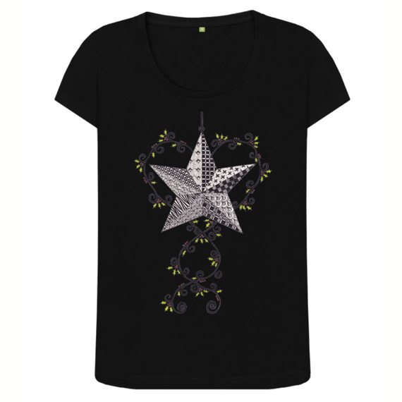 Christmas Star Women's Sustainable Christmas T Shirt – Organic Cotton Kind Shop 2