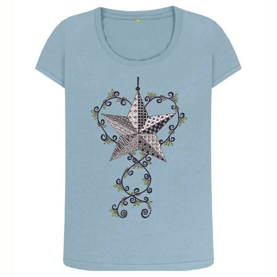 Christmas Star Women's Sustainable Christmas T Shirt – Organic Cotton Kind Shop 6