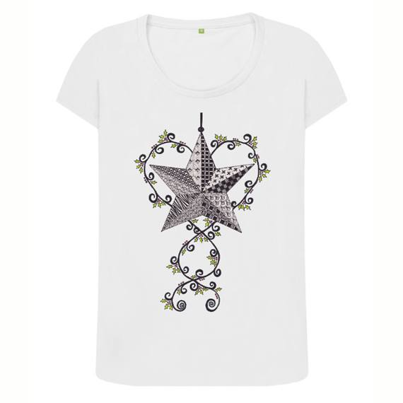 Christmas Star Women's Sustainable Christmas T Shirt – Organic Cotton Kind Shop 7