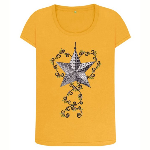 Christmas Star Women's Sustainable Christmas T Shirt – Organic Cotton Kind Shop 8