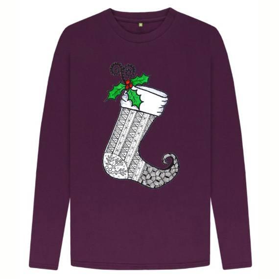 Christmas Stocking 1 Children's Sustainable Christmas Long Sleeve T Shirt – Organic Cotton Kind Shop