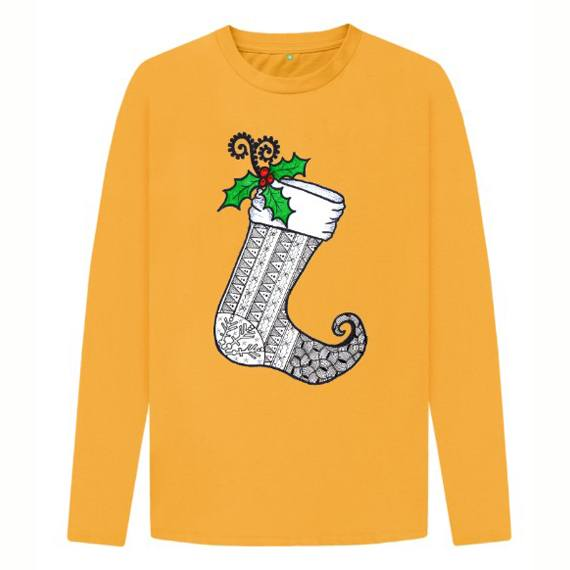 Christmas Stocking 1 Children's Sustainable Christmas Long Sleeve T Shirt – Organic Cotton Kind Shop 5