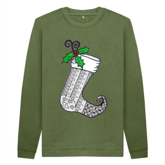 Christmas Stocking 1 Men's Sustainable Christmas Jumper – Organic Cotton Kind Shop 4