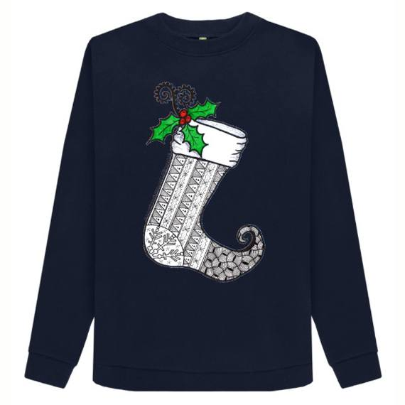 Christmas Stocking 1 Women's Sustainable Christmas Jumper – Organic Cotton Kind Shop