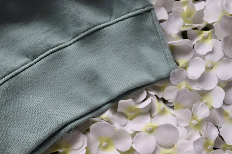 Organic Cotton Slate Green Eco Warrior Sweatshirt Top Kind Shop 4