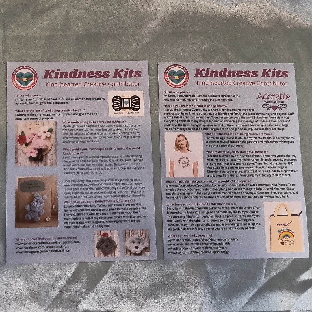 Happiness themed Kindness Kit. Positivity gift care package. Letterbox gift Kind Shop 12