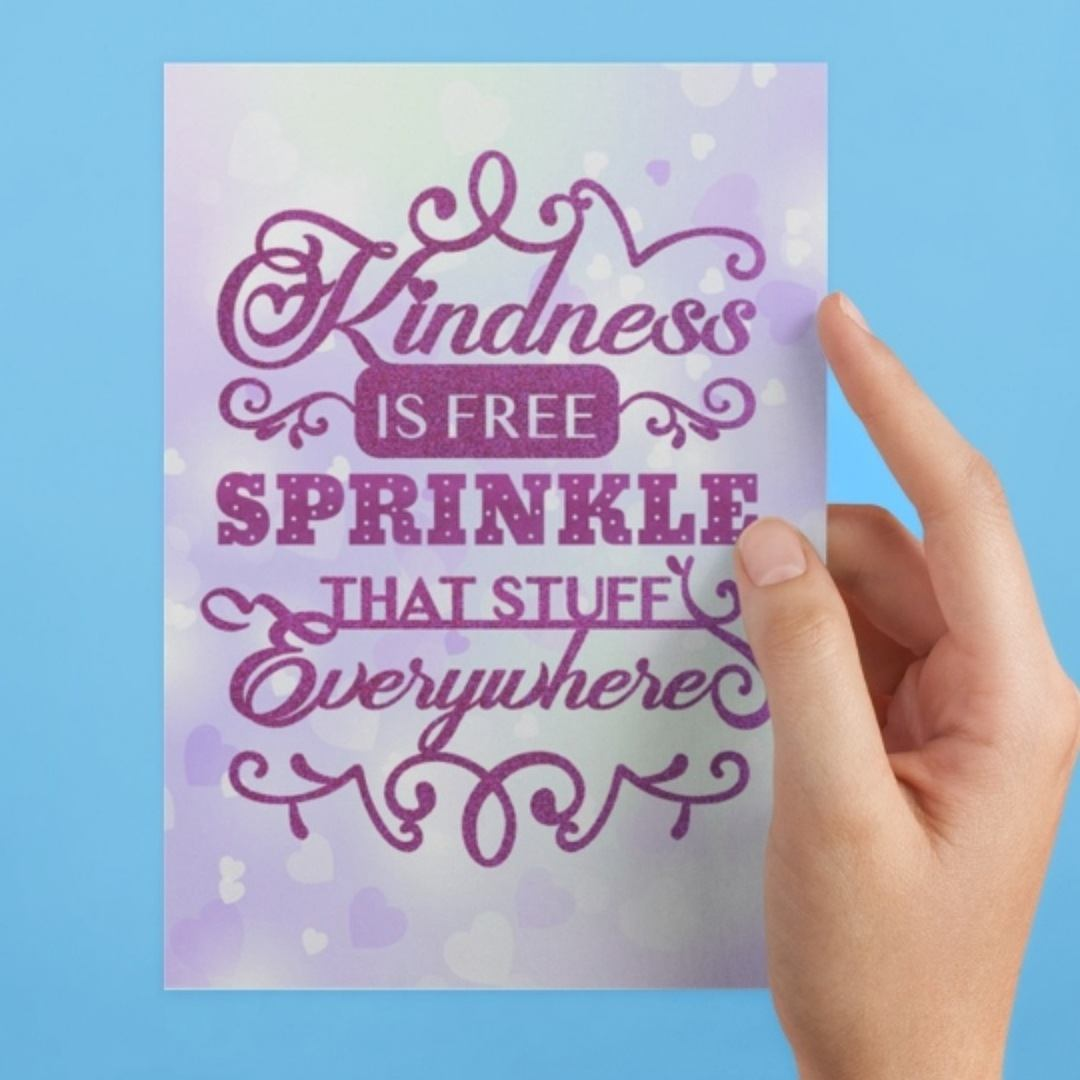 Kindness is free sprinkle that stuff everywhere postcard