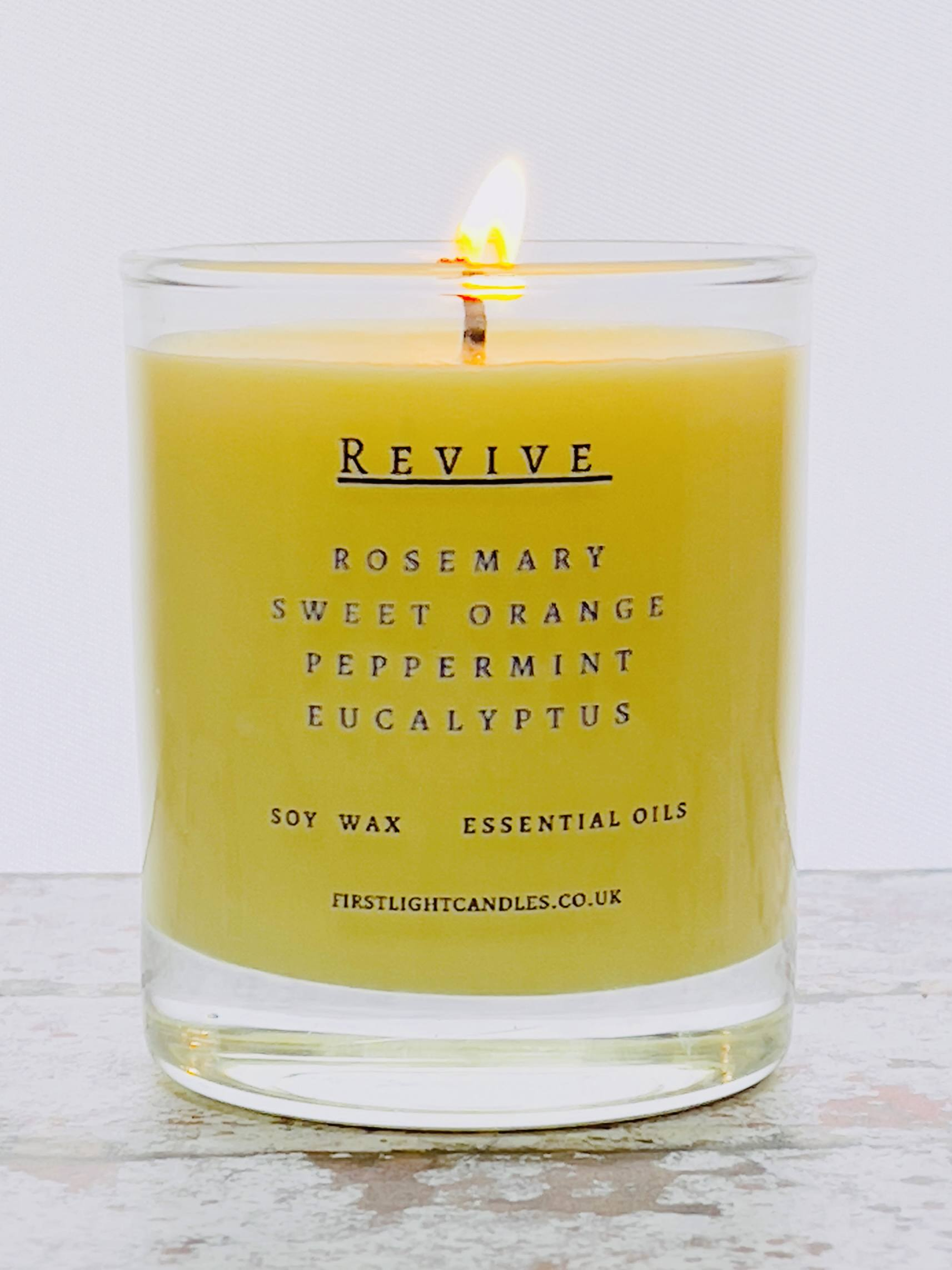 Vegan Soy Candle with Rosemary, Orange, Peppermint and Eucalyptus Essential Oils Kind Shop