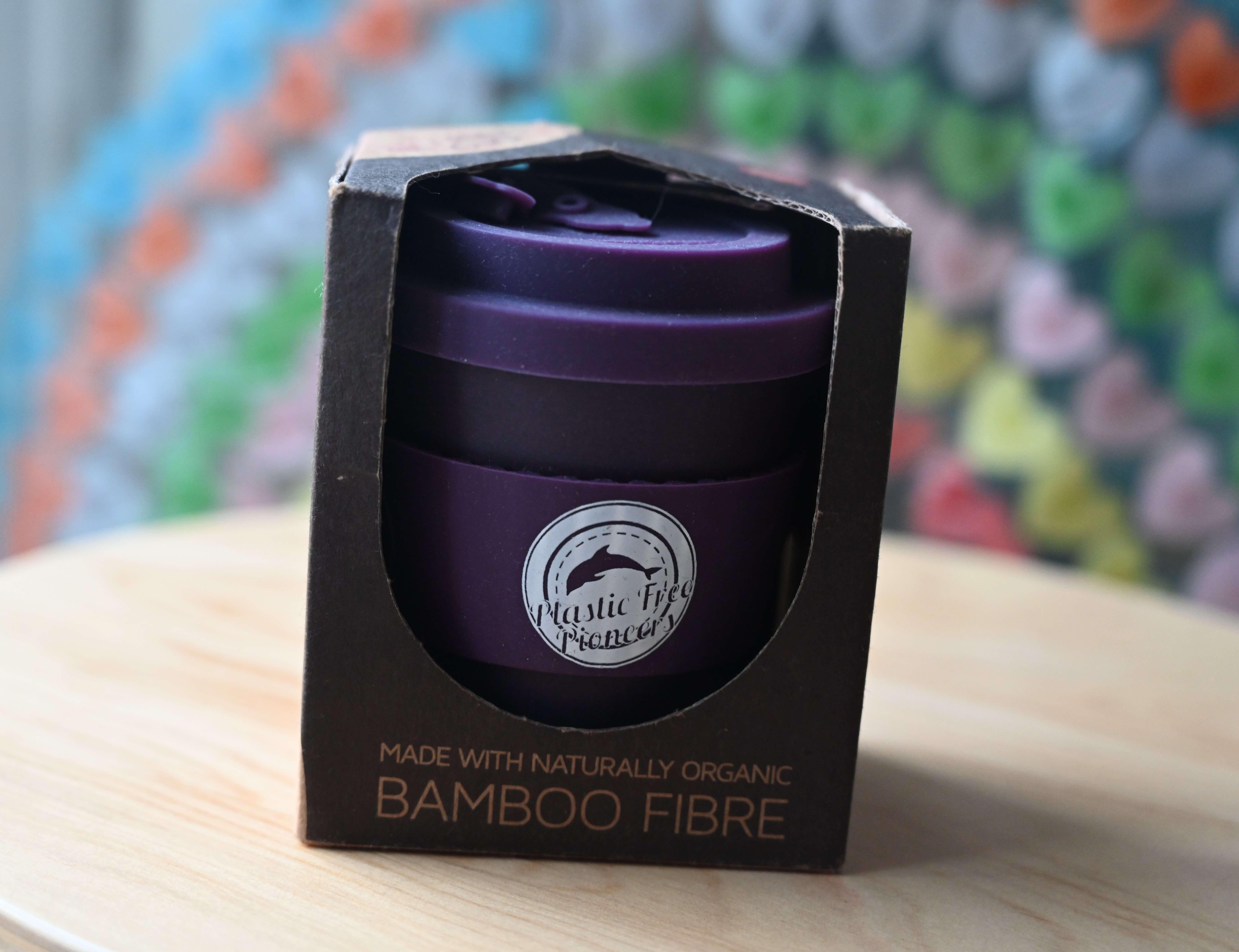 Bamboo Reusable Cup - Purple Small 8oz