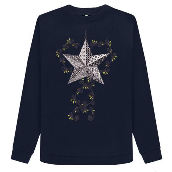 Christmas Star Women's Sustainable Christmas Jumper – Organic Cotton Kind Shop 3
