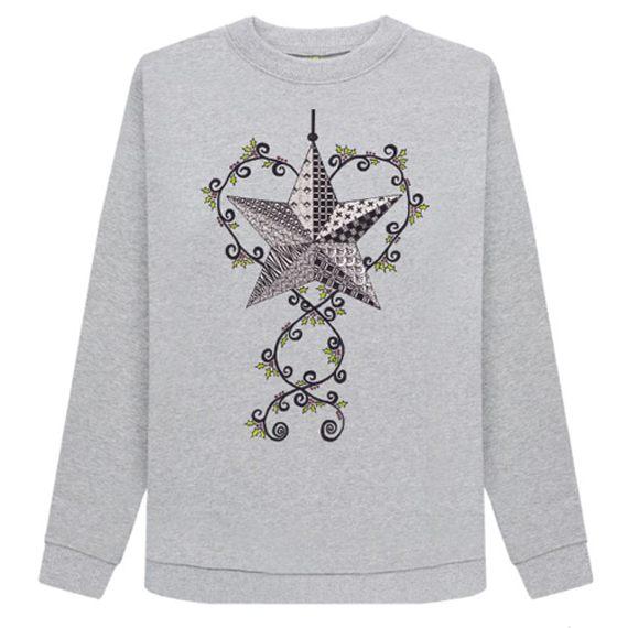 Christmas Star Women's Sustainable Christmas Jumper – Organic Cotton Kind Shop 4