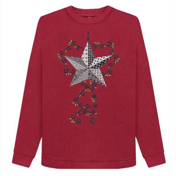 Christmas Star Women's Sustainable Christmas Jumper – Organic Cotton Kind Shop
