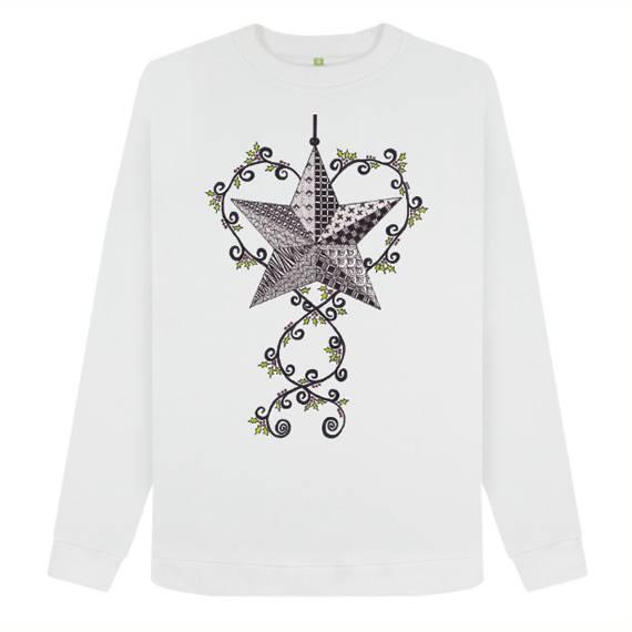 Christmas Star Women's Sustainable Christmas Jumper – Organic Cotton Kind Shop 5