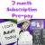 Monthly Surprise, 3 Month Subscription, The Smile Parcel Plus Subscription Box, Self Care Box, Mental Health Gift