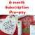 Monthly Surprise, 6 Month Subscription, The Smile Parcel Plus Subscription Box, Self Care Box, Mental Health Gift