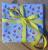 Children Kids Reusable Fabric Gift Wrap (Blue Crabs & Shells)