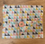 Beeswax Sandwich Wrap with Button & String Fastening (Multi Coloured Triangles)