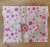 Beeswax Sandwich Wrap with Button & String Fastening (Pink Buttons)