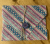 Beeswax Sandwich Wrap with Button & String Fastening (Pink Purple Pattern)