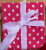 Valentines Reusable Fabric Gift Wrap (White & Pink Hearts)