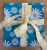 Reusable Fabric Gift Wrap (Turquoise Daisy)
